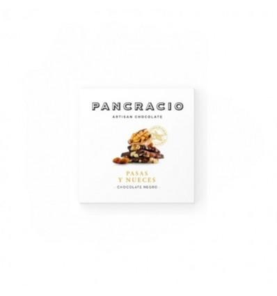 Pancracio Chocolate Negro con Nueces y Pasas Sultanas Tableta 45g