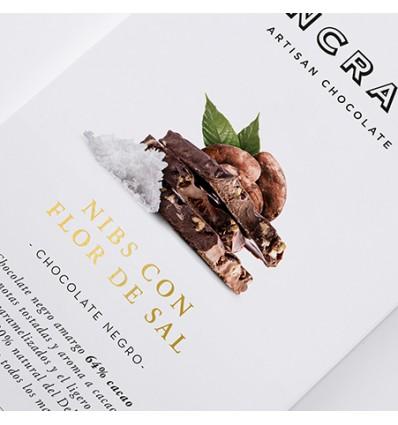 Pancracio Chocolate Negro con Nibs y Flor de Sal Natural Tableta 45g