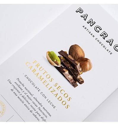 Pancracio Chocolate con Leche y Frutos Secos Caramelizados Tableta 45g