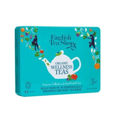 English Tea Shop - Wellness Tea Organic Collection Lata turquesa -