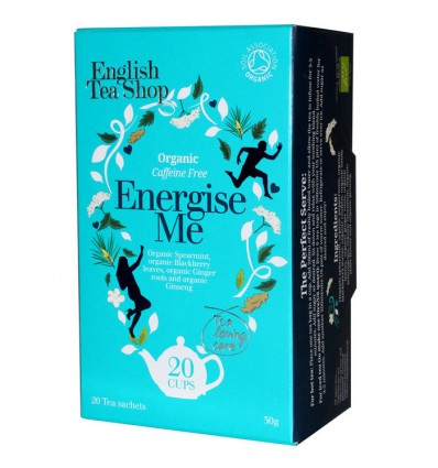 English Tea Shop Organic Energise Me Tea Tea - 20 Tea Sachets - 30g